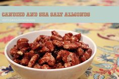 Homemade Candied Almonds with a Dash of Sea Salt.