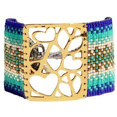 Mishky Peace & Love Cuff Bracelet
