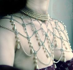 La Coquette Beaded Cape Custom made For You Amazing  antique crystals. $348.00, via Etsy.