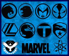 60 Superhero Logo Svg | Superhero Svg | Superhero Clipart | Superhero Cut File | Superhero Circuit | Batman Svg | Captain America Svg by HawkLegion on Etsy