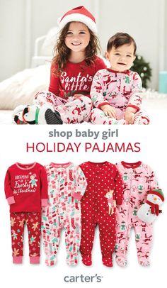 Shop baby girl fleece pjs, matching cotton pjs + more!