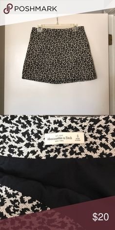 Abercrombie and Fitch leopard skirt Only worn once, fits a little more like a 4 than a 6. Abercrombie & Fitch Skirts Mini