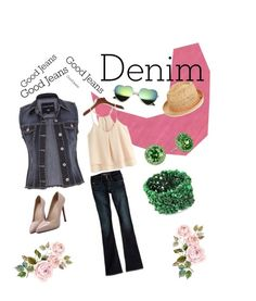 """spring_into_denim"" by hedeml on Polyvore featuring WithChic, Oasis, Nina, NOVICA, maurices, American Eagle Outfitters and Denimondenim"