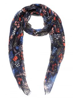 Sussan Navy Floral Scarf