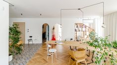 Studio space by Another Studio - The architects of Bulgarian office Another Studio removed walls from an apartment and replaced them with customised shelving systems to create themselves a personalised workspace.