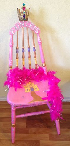 A simple kitchen chair goes Disney, by Kaye Parisi. The bidding war for this princess throne was worthy of any royal duel to win the love of a princess.