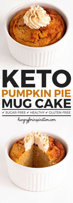 Can you believe this Pumpkin Pie Keto Mug Cake actually Low Carb? But it is an actual Keto Dessert with only net carbs per serving that tastes just like real pumpkin pie! Make yourself a well deserved Keto Snacks & Low Carb Dessert Keto Desserts, Keto Dessert Easy, Keto Friendly Desserts, Keto Snacks, Keto Sweet Snacks, Christmas Desserts, Christmas Treats, Dessert Healthy, Holiday Treats