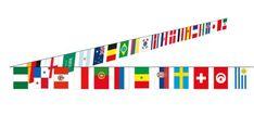 Guirlande avec drapeaux pays pour une décoration sur le thème du foot. Décoration anniversaire, mariage, baptême ou communion sur le thème du foot. Guirlande foot pas cher Decoration Chic, Bar Chart, Symbols, Letters, Attention, Communion, Football, Products, Birthday Display