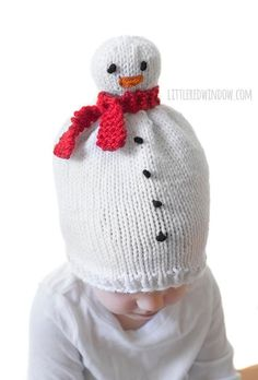 Snowman Hat KNITTING PATTERN   Snowman Pattern   Newborn Snowman Hat    Winter Snowman Hat   Snowman Beanie   My First Christmas 9d9b3efc7a86