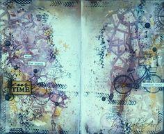 """My art journal page """"Enjoy the journey...""""   Téma mesiacaseptember na ScrapShop.sk má názov   """"Môj obľúbený produkt""""    Moje rozhodnutie padlo jednozna č ne na razítka a príspevok k..."""