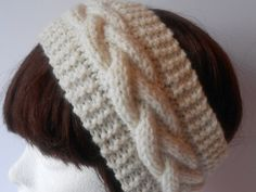 Cable knit Headband. Cable earwarmer. Hand knit by AluraCrafts