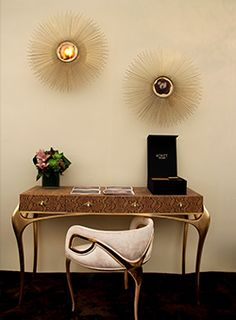 @KOKET Love Happens Projects with Temptation Console, Chandra Chair and Brilliance Sconce http://www.bykoket.com/projects.php