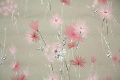 vintage kraft paper wallpaper pink floral