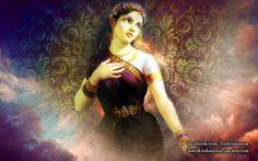 To view Radharani wallpapers in difference sizes visit - http://harekrishnawallpapers.com/srimati-radharani-artist-wallpaper-003/