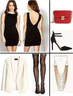 Valentine's Day Dress Black White Outfit