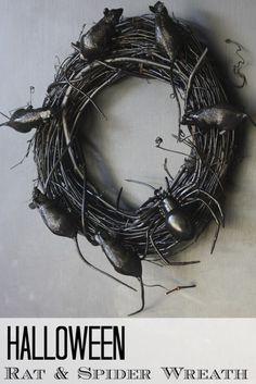 A creepy and hopefully stylish wreath for Halloween! #halloween #diy #wreath #creepy
