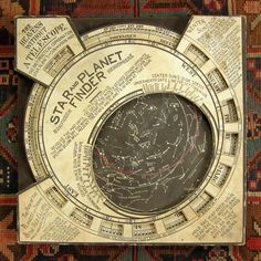 "Home Decor Objects : The Heavens without a Telescope. Vintage Star and Planet Finder providing some great design inspiration. ""Directions: Revolve the map until the day of the month desired stands … Cosmos, Star Chart, Map Design, Cartography, Bookbinding, Stargazing, Night Skies, Telescope, Astrology"