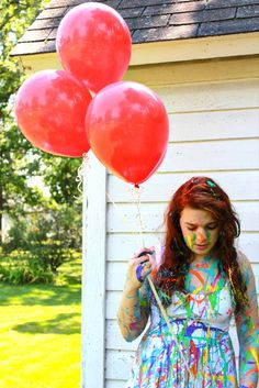 Zoey Jean - paint and balloons (me)