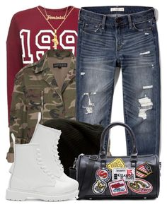 """""""1 2 17"""" by miizz-starburst ❤ liked on Polyvore featuring Topshop, me you, Abercrombie & Fitch, Vans and Dr. Martens"""