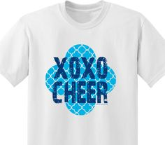 Another cute $5 #cheer shirt. It features a gold glitter printing. Order yours today! #cheerleader #apparel #spirit #accessories #spiritaccessories