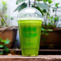 Suco Verde #sucoverde #detox #suco #saudavel #bebida #juice #green #greenjuice #biocup #gym #academia #guarulhos #deliveryguarulhos #chia #limao #abacaxi #hortela