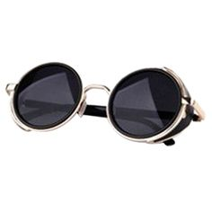 Barato Splendid lente espelho rodada óculos de Cyber de Steampunk óculos de sol Retro, Compro Qualidade Óculos Escuros diretamente de fornecedores da China:     Espelho lente óculos redondos do Cyber Goggles STEAMPUNK óculos de sol Vintage Retro                  De