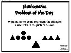 84 Best 3rd-4th Grade Daily Math images in 2018 | Daily math ...