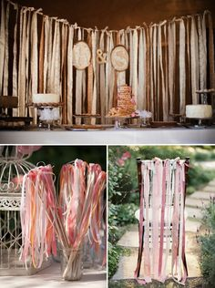 Really like all the ribbon ideas...just not sure if I like the way they are tied at the top...a bit too shabby for my taste