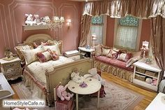I adore this little girl's room> I want it for me!