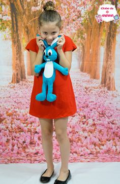 Fantasia Monica da Turma da Mônica. Fantasia para crianças.
