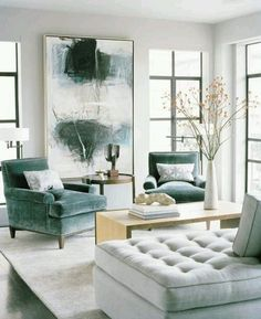 Living room color ideas - Grey/Green