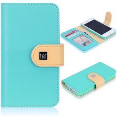 iPhone 5 Pathway Wallet Case - Cloud Blue