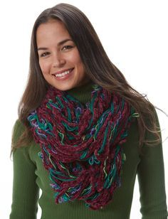 Pretty Pirouette Arm Knit Cowl in Patons Pirouette