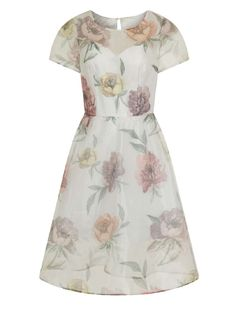 Womens *Chi Chi London White Floral Midi Dress- White