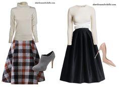 Looks con falda midi