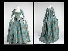 Silk Robe a la Francaise 1760-1780