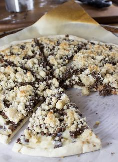 Chocolate Chip Dessert Pizza! Easy and delicious. And very very chocolatey