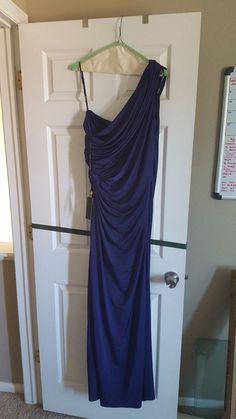 Tadashi Shoji XL Deep PURPLE one shoulder dress #TadashiShoji #OneShoulder #Formal