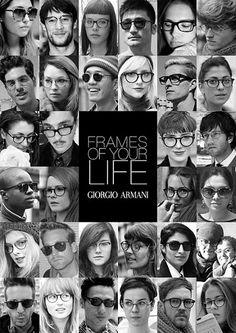 cd4956411e Giorgio Armani Frames of Your Life Kampagne. Nobel Optical