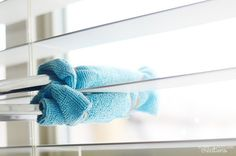Tongs aren't just for the kitchen anymore. When you pair them with a washcloth and disinfectant spray, you've got a quick and easy way to clean your blinds. Using an old sock works too! For more, go to Sprinkle Some Fun.