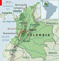 Trip from Bogota to Buenaventura at the Pacific Coast , Colombia.