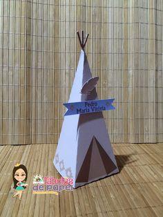 Caixa pirâmide para colocar guloseimas ou lembrancinhas