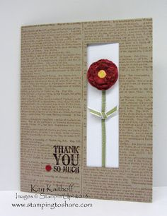 Stamping to Share: 6/17 Lots of Thanks Cut Out Window Card