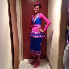 Sepedi | Love Sepedi Traditional Dresses, South African Traditional Dresses, Traditional Fashion, African Attire, African Wear, African Dress, African Style, African Beauty, African Print Fashion