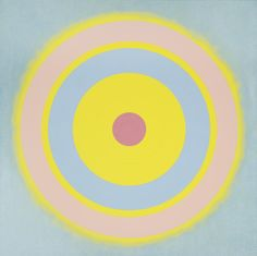 Kenneth Noland | MYSTERIES: GLOW signed on the reverse acrylic and graphite on canvas 60 by 60 in. 152.4 by 152.4 cm. Executed in 2001. | Sotheby's