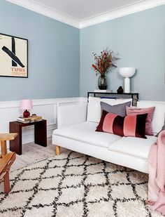 The Nordroom - A Copenhagen Apartment in Pink and Blue Tones Pastel Home Decor, Pastel Interior, Easy Home Decor, Pastel Living Room, Home Living Room, Living Room Designs, Living Room Inspiration, Interior Design Inspiration, Copenhagen Apartment