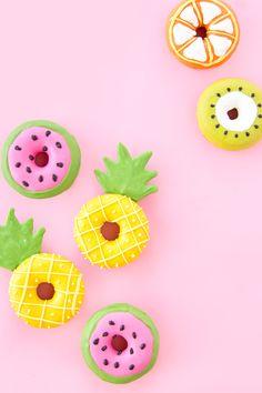» Summer Fruit Slice Donuts