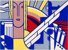 ROY LICHTENSTEIN - MODERN ART POSTER (CORLETT II.8) - ROBERT FONTAINE GALLERY  http://www.widewalls.ch/artwork/roy-lichtenstein/modern-art-poster-corlett-ii-8/ #litograph