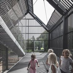 Frederiksvej Kindergarten is the result of a competition win by COBE in collaboration with Preben Skaarup landscape architects, Søren Jensen engineers and Learning Spaces consultants. The kindergarten, in Copenhagen, Denmark, aims to create a Kindergarten Pictures, Kindergarten Projects, Kindergarten Design, Scandinavian Architecture, Urban Fabric, Architecture Visualization, Site Plans, Learning Spaces, Learning Centers