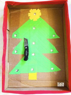 Make this homemade Christmas marble game with a cardboard box and duct tape. Marble Games, Duct Tape, Homemade Christmas, Party Games, Parties, Crafts, Fiestas, Manualidades, Tape